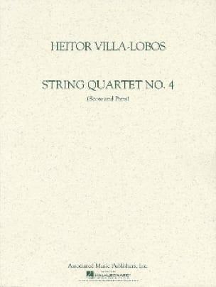 Quatuor à cordes n° 4 -Score + Parts - VILLA-LOBOS - laflutedepan.com