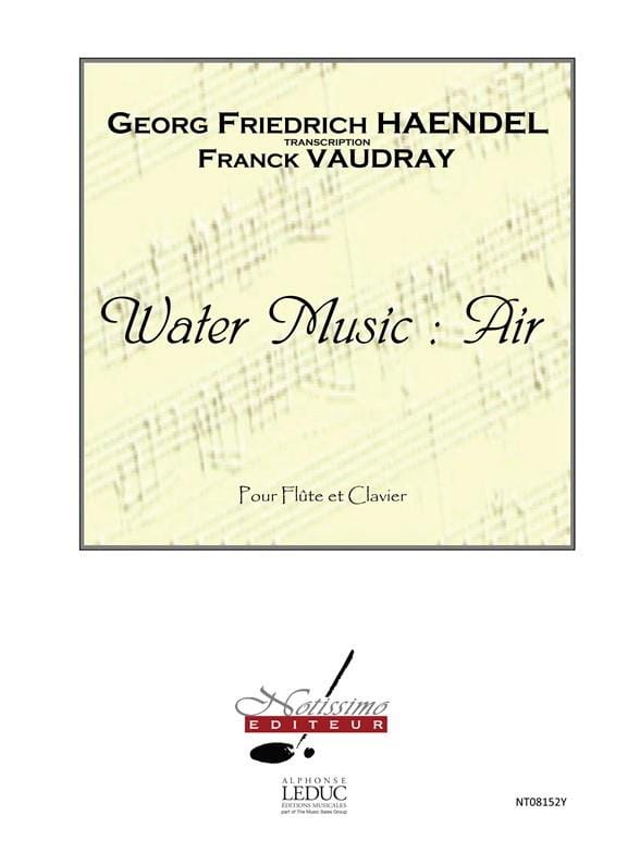 HAENDEL - Water Music: Air - Piano Flute - Partition - di-arezzo.com