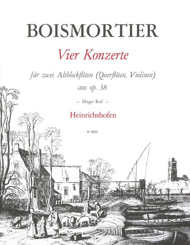 4 Konzerte op. 38 - 2 Altblockflöten - BOISMORTIER - laflutedepan.com