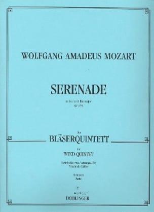 MOZART - Serenade Es-Dur KV 375 - Bläserquintett - Stimmen - Partition - di-arezzo.co.uk