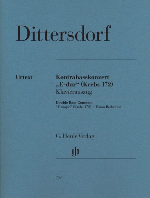 Carl Ditters von Dittersdorf - Concerto for double bass in E major Krebs 172 - Partition - di-arezzo.co.uk