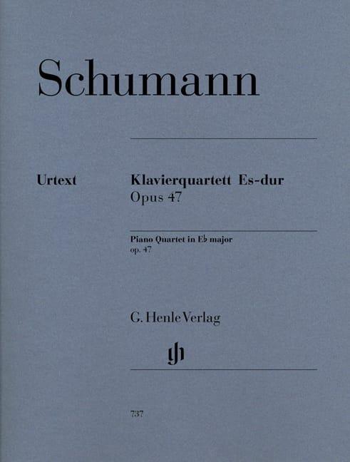 SCHUMANN - Piano quartet in E flat major op. 47 - Partition - di-arezzo.co.uk