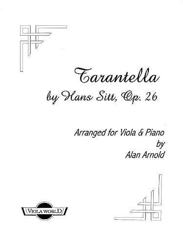 Hans Sitt - Tarantella op. 26 - Viola - Partition - di-arezzo.co.uk