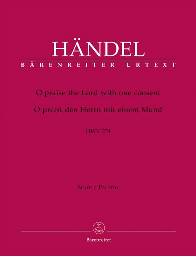 O praise the Lord with one consent HWV 254 - laflutedepan.com