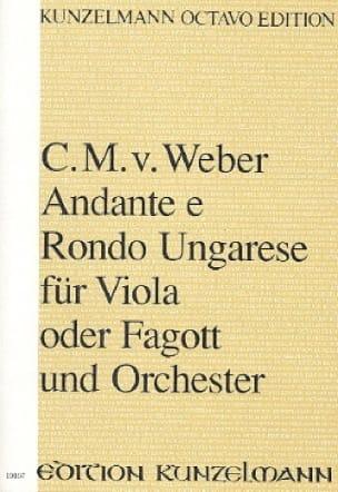 Carl Maria von Weber - Andante e Rondo Ungarese for Viola oder Fagott und Orchester - Partition - di-arezzo.co.uk