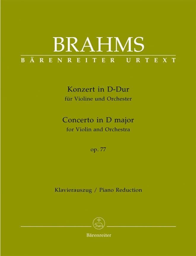 BRAHMS - Concierto para violín en Re mayor op. 77 - Partition - di-arezzo.es
