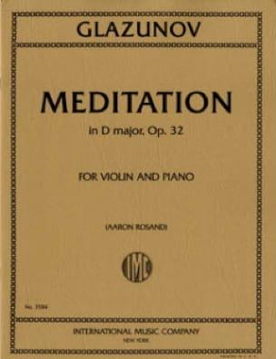 Alexandre Glazounov - Meditation in D Maj.O.32 - Partition - di-arezzo.de