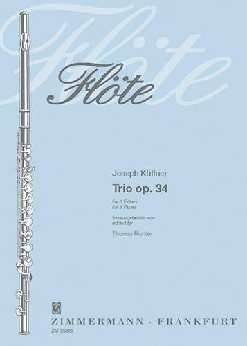 Trio op. 34 - 3 Flöten - Joseph Küffner - Partition - laflutedepan.com