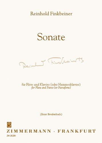 Sonate - Flöte Klavier - Reinhold Finkbeiner - laflutedepan.com