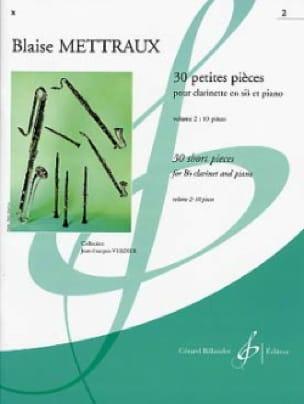 30 Petites pièces - Volume 2 - Blaise Mettraux - laflutedepan.com