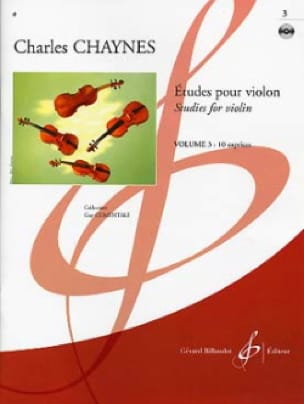 Etudes pour violon Volume 3 - Charles Chaynes - laflutedepan.com