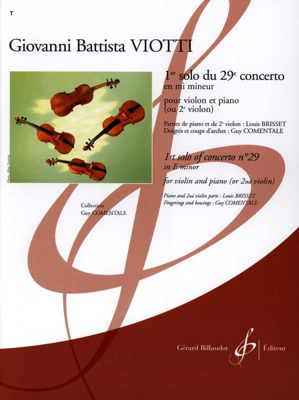 Giovanni Battista Viotti - 1st Solo of Concerto No. 29 in E minor - Partition - di-arezzo.com
