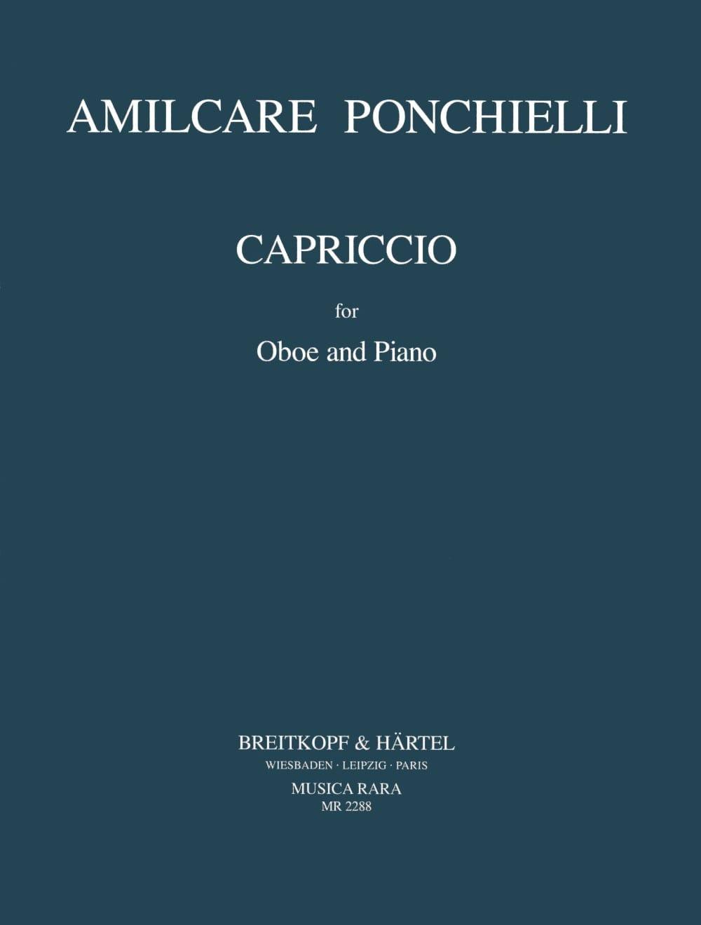 Amilcare Ponchielli - Capriccio - Oboe piano - Partition - di-arezzo.co.uk