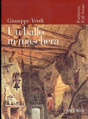 VERDI - A ballo in maschera new ed. - Partitura - Partition - di-arezzo.co.uk