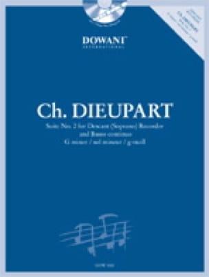 Charles François Dieupart - Suite n° 2 en sol min. -Descant recorder Bc - Partition - di-arezzo.fr