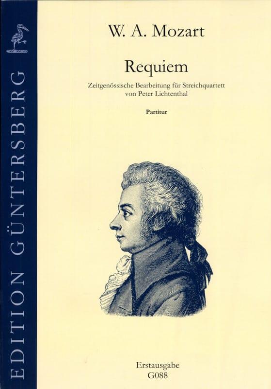 Requiem KV 626 - quatuor à cordes - conducteur - laflutedepan.com