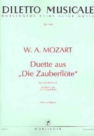 MOZART - Duette aus Die Zauberflöte - Partition - di-arezzo.fr