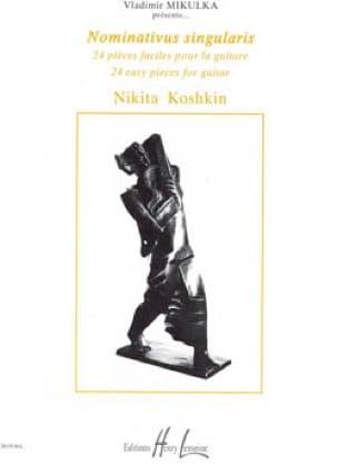 Nominativus singularis - Nikita Koshkin - Partition - laflutedepan.com