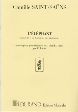 Camille Saint-Saëns - Elephant - Partition - di-arezzo.co.uk