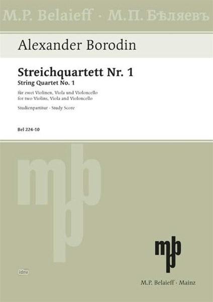 Alexandre Borodine - Streichquartett Nr. 1 A-Dur - Partitur - Partition - di-arezzo.co.uk