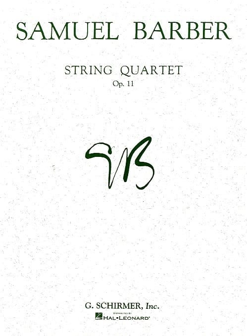 String quartet op. 11 - Parts - BARBER - Partition - laflutedepan.com