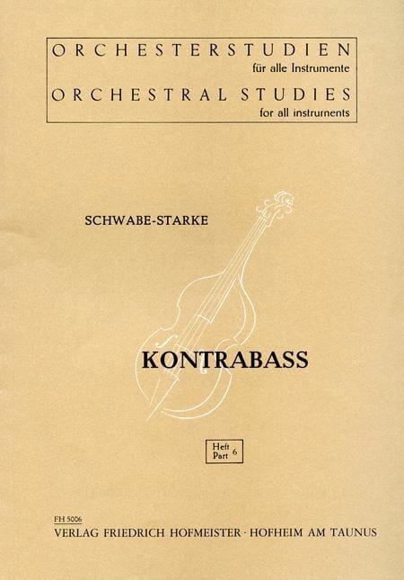 Schwabe-Starke - Orchesterstudien - Heft 6 - Kontrabass - Partition - di-arezzo.co.uk