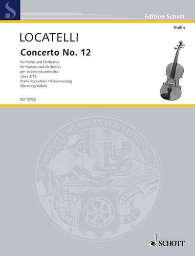 Concerto Violon op. 3 n° 12 en ré majeur - laflutedepan.com