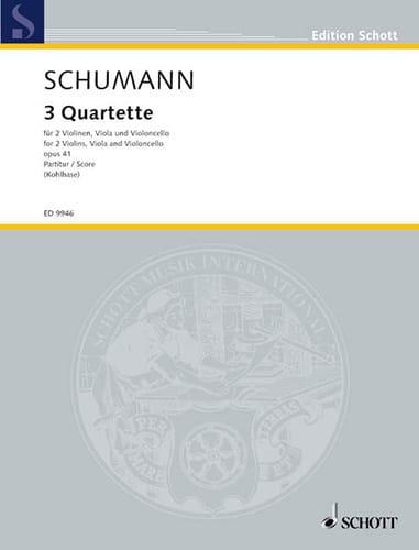 SCHUMANN - 3 Quartet op. 41 - Partitur - Partition - di-arezzo.com