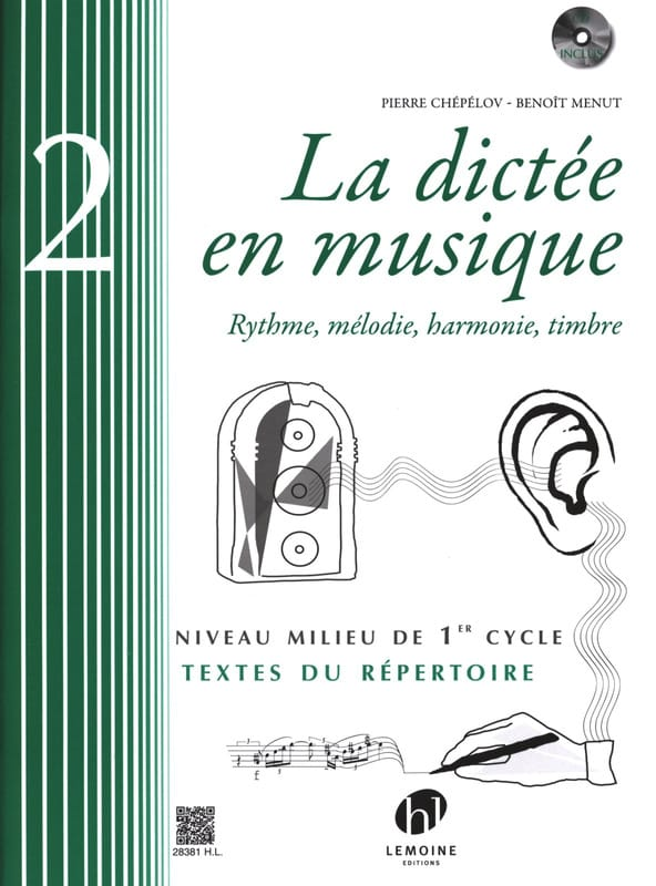 Pierre CHEPELOV et Benoit MENUT - The Dictation in Music Volume 2 - Partition - di-arezzo.co.uk