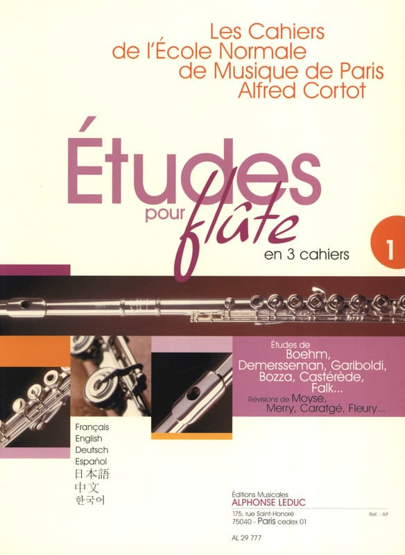 - Studies for flute - Volume 1 Cahiers of the Normal School - Partition - di-arezzo.com