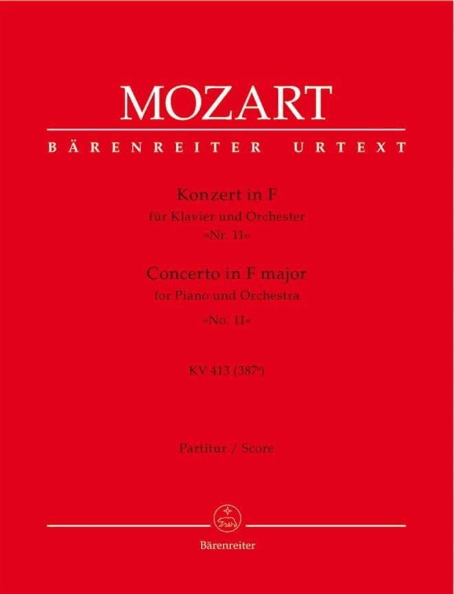 Concerto pour piano en Fa maj. KV 413 - Partitur - laflutedepan.com