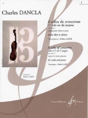 DANCLA - 1st Concerto Solo op. 141 n ° 1 in C major - Alto - Partition - di-arezzo.com