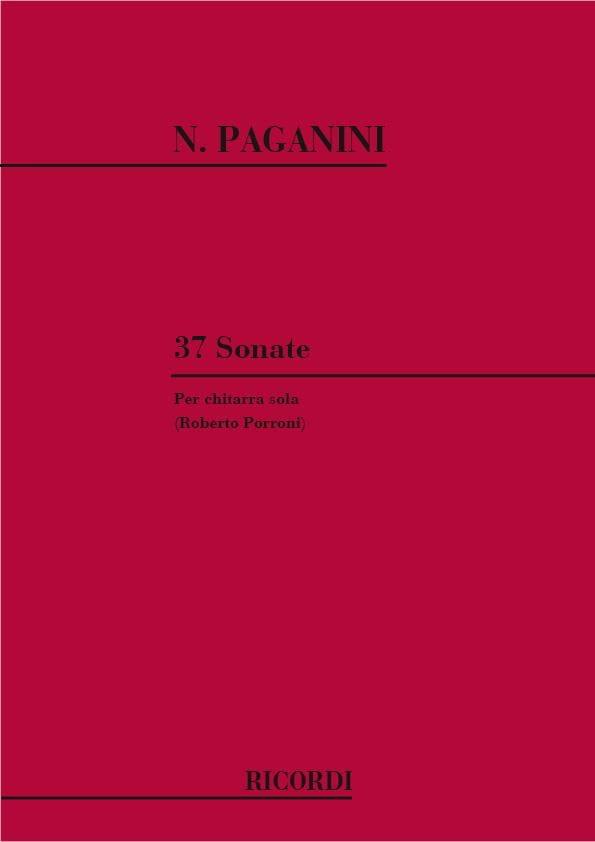 37 Sonate -Chitarra - PAGANINI - Partition - laflutedepan.com