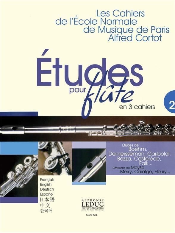 - Studies for flute - Volume 2 Cahiers of the Normal School - Partition - di-arezzo.co.uk