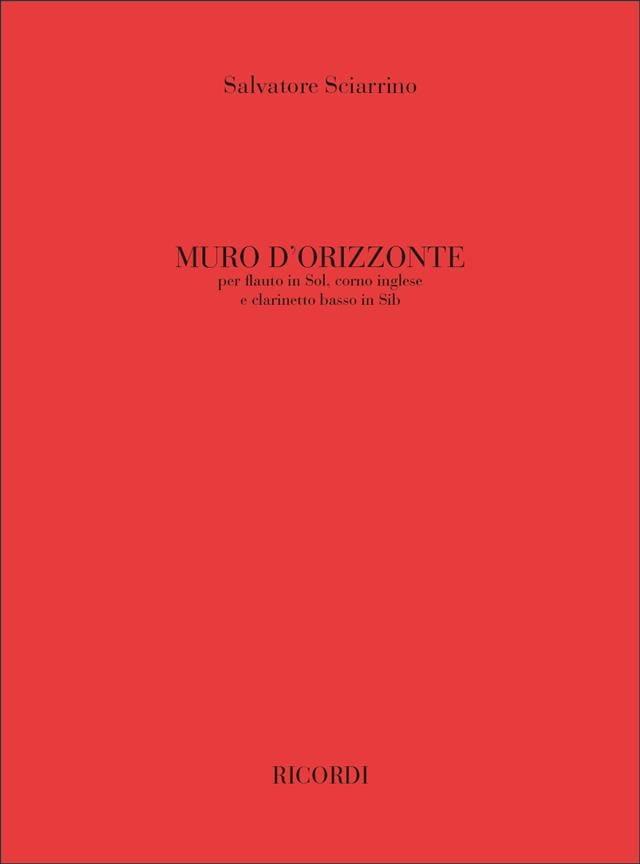 Muro D' Orizzonte - Salvatore Sciarrino - Partition - laflutedepan.com