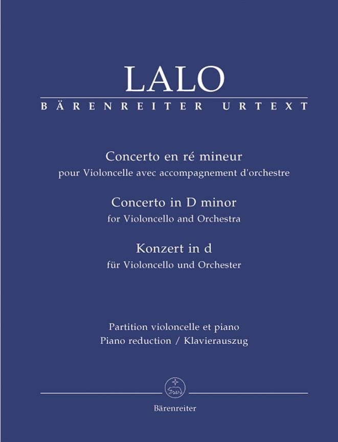Edouard Lalo - Concerto in D Minor - Partition - di-arezzo.com