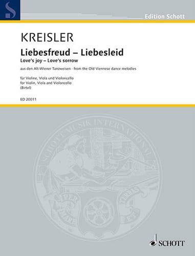 Fritz Kreisler - Liebesfreud - Liebeslied - Partition - di-arezzo.co.uk