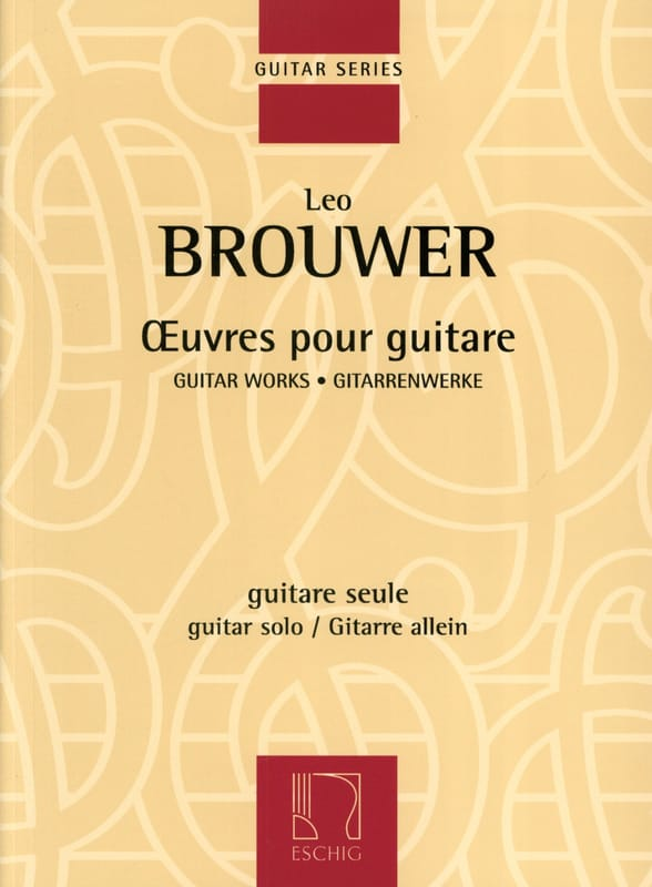Oeuvres pour guitare - BROUWER - Partition - laflutedepan.com