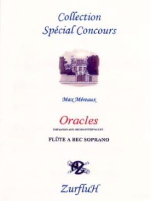 Oracles - Max Méreaux - Partition - Flûte à bec - laflutedepan.com