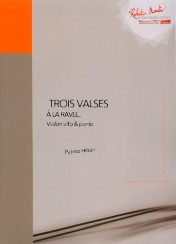Trois valses - Patrice Hibon - Partition - Alto - laflutedepan.com
