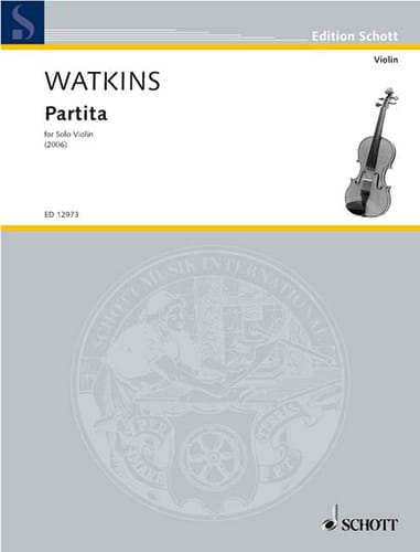 Partita - Huw Watkins - Partition - laflutedepan.com