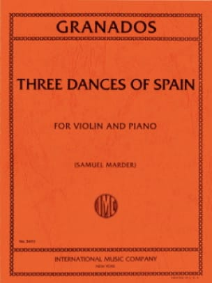 3 Dances Of Spain - GRANADOS - Partition - Violon - laflutedepan.com