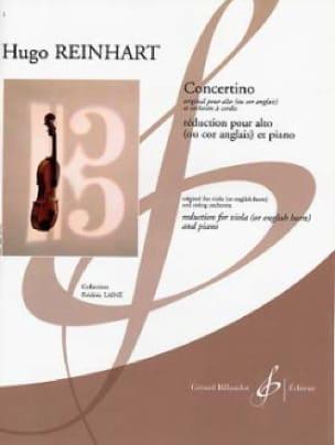 Concertino - Hugo Reinhart - Partition - Alto - laflutedepan.com