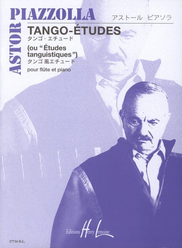 Astor Piazzolla - Tango-Etudes - Flûte piano - Partition - di-arezzo.fr