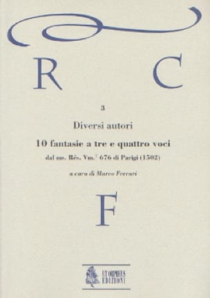 10 Fantasias a tre e quattro voci - Partition - laflutedepan.com
