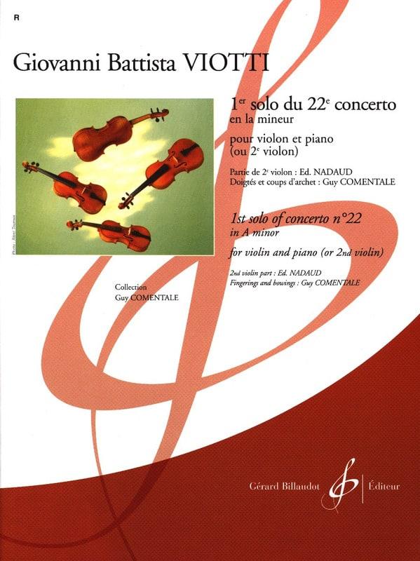 Giovanni Battista Viotti - 1st Solo of the Concerto n ° 22 - Partition - di-arezzo.com