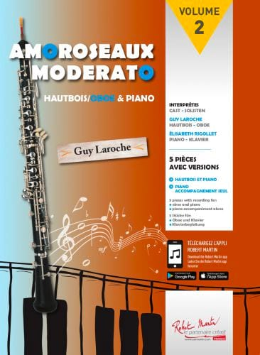 - Amoroseaux Moderato Volume 2 - Oboe and piano - Partition - di-arezzo.co.uk