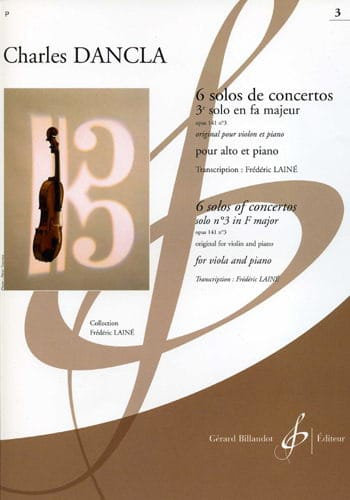 DANCLA - 3rd Solo of Concerto Op. 141 N ° 3 in F Major - viola - Partition - di-arezzo.com