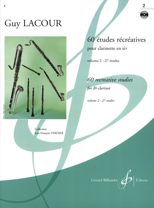 Guy Lacour - 60 Recreational Studies - Volume 2 - Partition - di-arezzo.com
