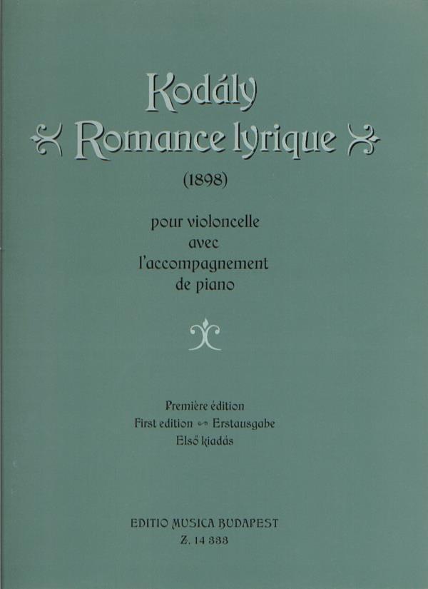 Zoltan Kodaly - Lyric Romance - Partition - di-arezzo.com